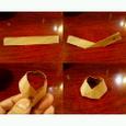 簡単な割り箸袋の箸置き