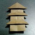 短い箸袋の三重の塔