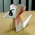 短い割り箸袋でネズミ
