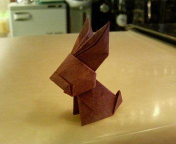 短い割り箸袋のウサギ
