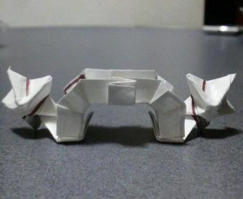 長い割り箸袋2枚で星の架け橋