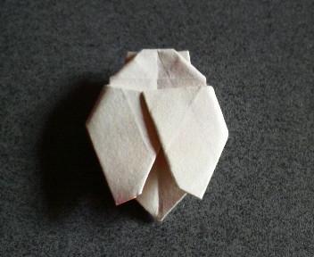 短い割り箸袋で蝉