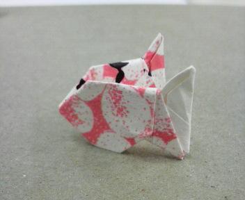 短い割り箸袋で魚座
