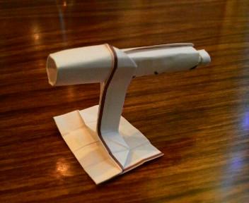 長い割り箸袋で天体望遠鏡