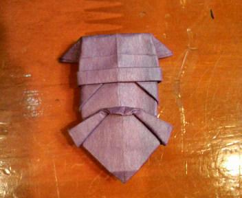 短い割り箸袋で水戸黄門