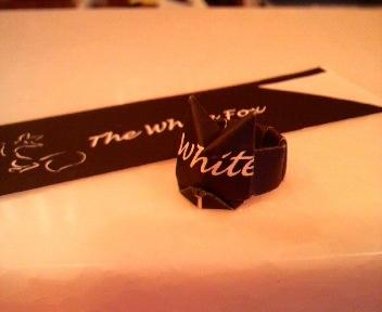 短い割り箸袋で指輪(<br />  猫)