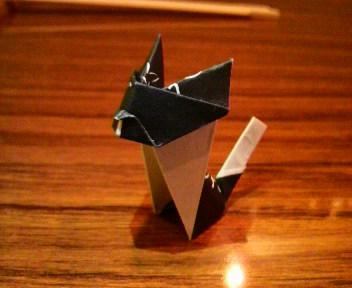 短い箸袋の猫3