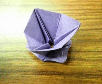 短い割り箸袋で花2