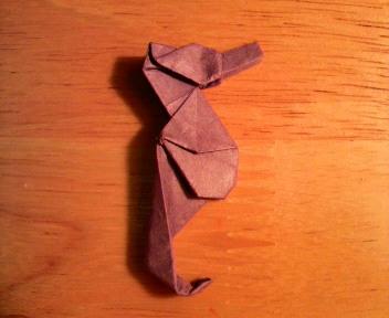 短い割り箸袋で竜の落とし子