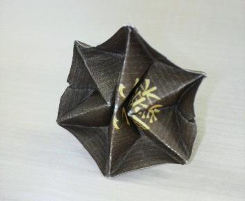 長い割り箸袋で六芒星の指輪
