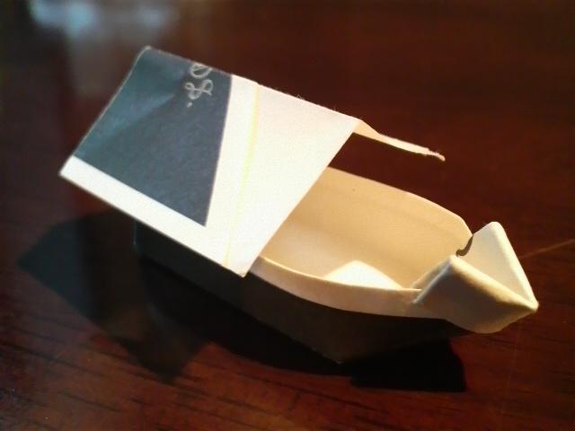 短い割り箸袋で屋形船