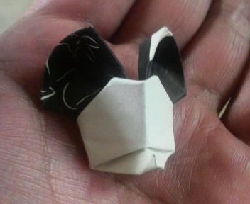 短い割り箸袋でM・マウス