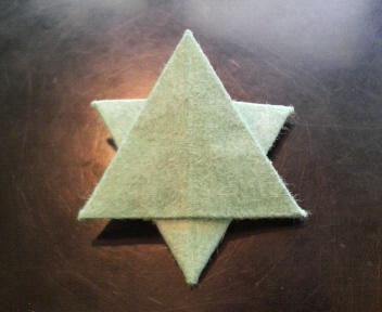 短い箸袋で六芒星