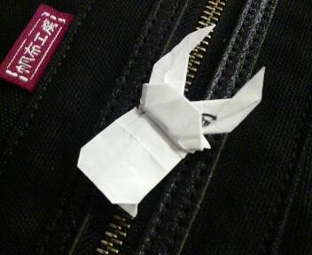 長い割り箸袋でクワガタ虫試作