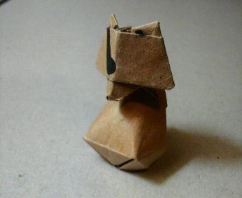 短い箸袋のタヌキ修正