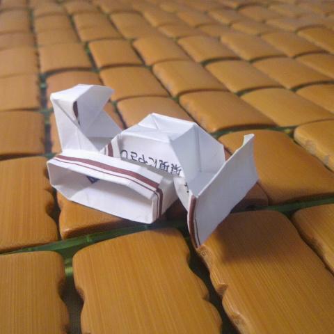 長い箸袋で折るブルドーザー改修