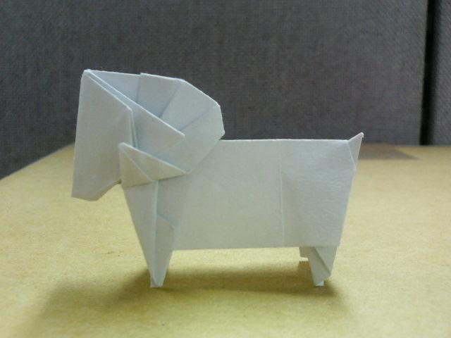 簡単 折り紙 : 羊の折り紙 : chachurai.cocolog-nifty.com